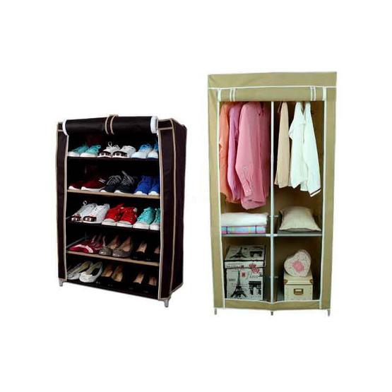 KANTAREEYA ตู้เสื้อผ้า สีครีม รุ่น KT-WD02
