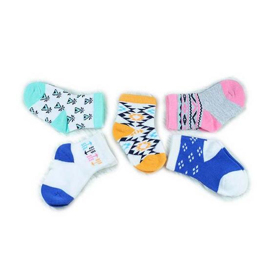 Blueberry Bon Bon ถุงเท้าเด็กลายโบฮิเมี่ยน คละสี คละลาย