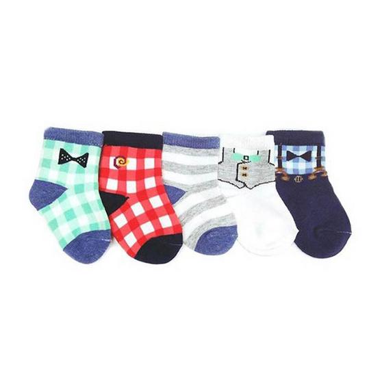 Blueberry Bon Bon ถุงเท้าเด็กลายเสื้อ คละสี คละลาย