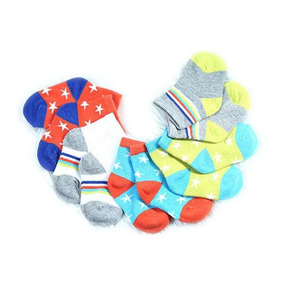 Blueberry Bon Bon ถุงเท้าเด็กลายดาว คละสี คละลาย