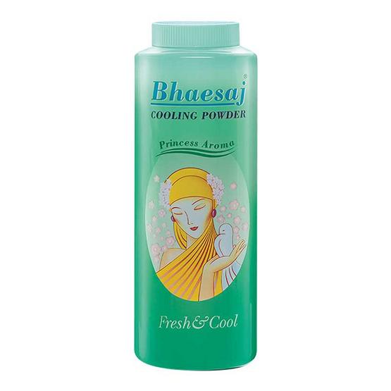 BHAESAJ เภสัช แป้งเย็น กลิ่นปริ๊นเซส สีเขียว 300 กรัม