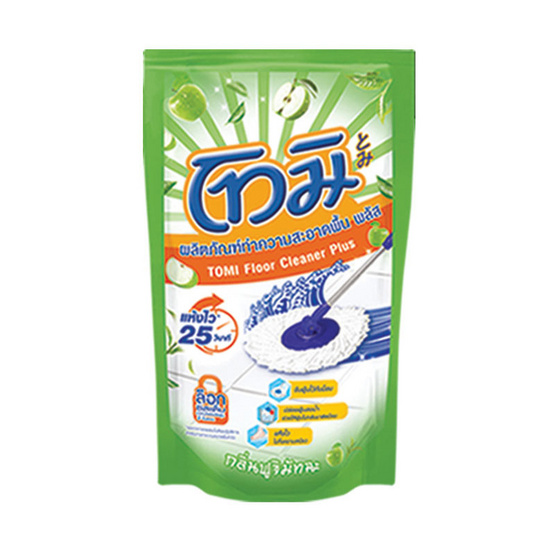 โทมิ น้ำยาถูพื้น กลิ่นฟูจิ มัทฉะ สีเขียว 800 มล.