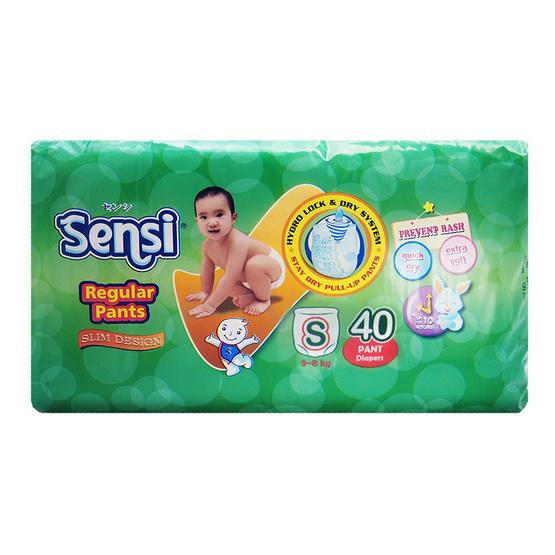 เซ็นซี่ผ้าอ้อมเด็กแบบกางเกงไซส์ S 40 ชิ้น