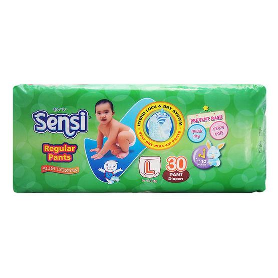 เซ็นซี่ผ้าอ้อมเด็กแบบกางเกงไซส์ L 30 ชิ้น
