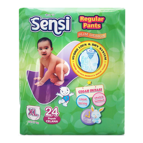เซ็นซี่ผ้าอ้อมเด็กแบบกางเกงไซส์ XL 24 ชิ้น
