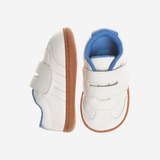 Little Blue Lamb รองเท้าผ้าใบสีขาว