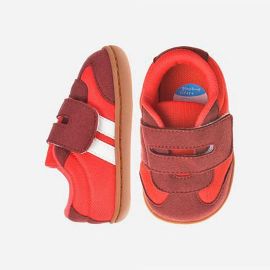 Little Blue Lamb รองเท้าผ้าใบสีแดง