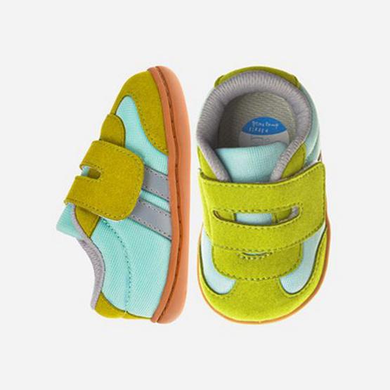 Little Blue Lamb รองเท้าผ้าใบสีเขียว