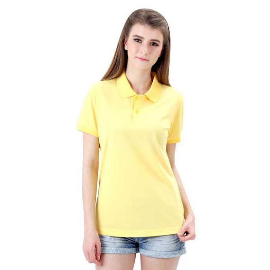 ka-ea เสื้อโปโล ผู้หญิง สีเหลือง
