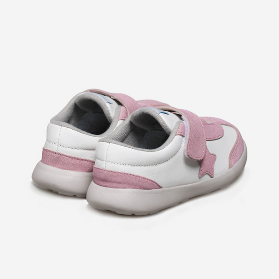 Little Blue Lamb รองเท้าผ้าใบสีชมพู