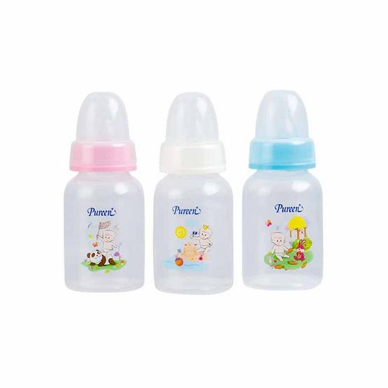 Pureen เซ็ตขวดนม Ultra Soft 4 ออนซ์ จุกนมไซส์ S คละลาย
