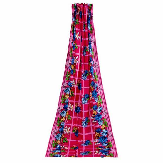 ผ้า DIY 112x250 ซม. ลายพิ้งเมเปิ้ล สีชมพู