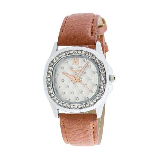 GENEVA นาฬิกา สายหนัง ผู้หญิง รุ่น GENEVA-BROWN