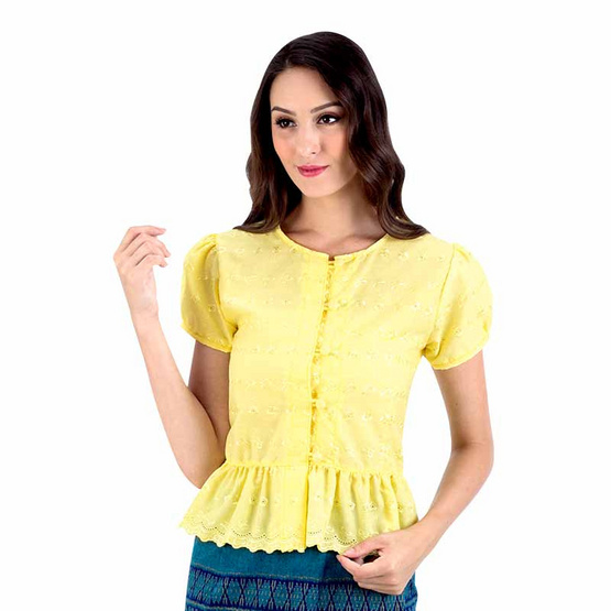 เสื้อลูกไม้ สีเหลือง