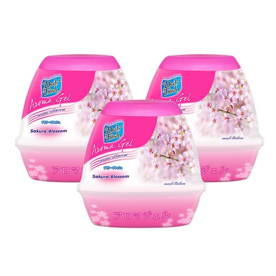 Daily Fresh อโรม่า เจลปรับอากาศ กลิ่นซากุระ บลอสซัม 200 กรัม (แพ็ค3)