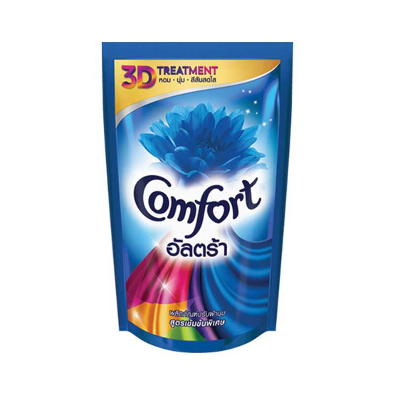 Comfort อัลตร้า ปรับผ้านุ่ม สูตรเข้มข้นพิเศษ สีฟ้า 650 มล.