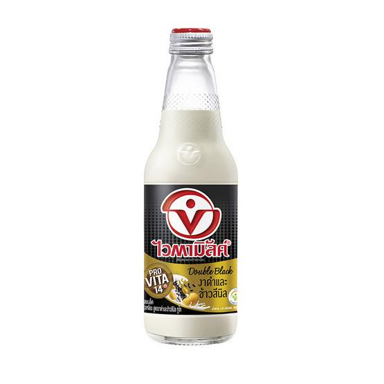 ไวตามิ้ลค์ ดับเบิ้ลแบล็ค น้ำนมถั่วเหลือง สูตรงาดำและข้าวสีนิล ทูโก 300 มล. (ยกลัง 24 ขวด)