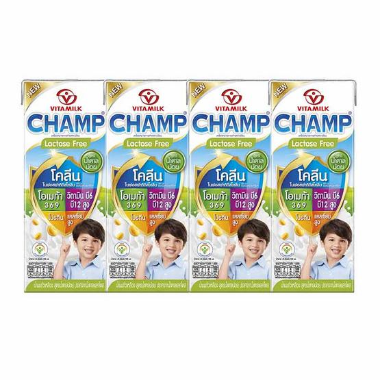 ไวตามิ้ลค์ แชมป์ น้ำนมถั่วเหลือง สูตรน้ำตาลน้อย 180 มล. (ยกลัง 48 กล่อง)