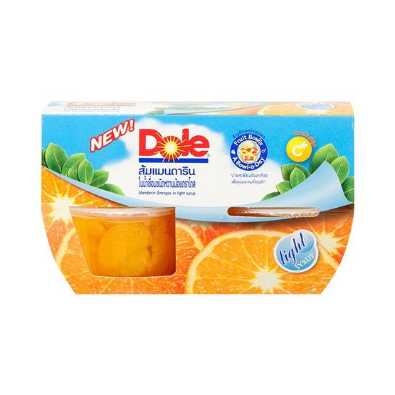 โดล ส้มแมนดาลิน ในน้ำเชื่อมหวานน้อย 113 กรัม แพ็ก 4 ถ้วย