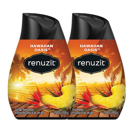Renuzit รีนูซิต เจลปรับอากาศ กลิ่นฮาวายเอี้ยนโอเอซิส 198 กรัม (2 ชิ้น)