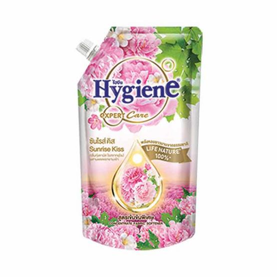 ไฮยีน ปรับผ้านุ่มเข้นข้น กลิ่นซันไรส์ คิส สีชมพู 580 มล.