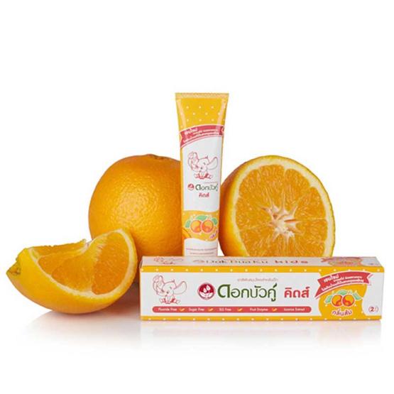 ดอกบัวคู่ ยาสีฟัน คิดส์ กลิ่นส้ม 35 กรัม