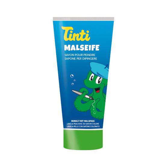 Tinti สบู่ระบายหน้าและตัวสีเขียว