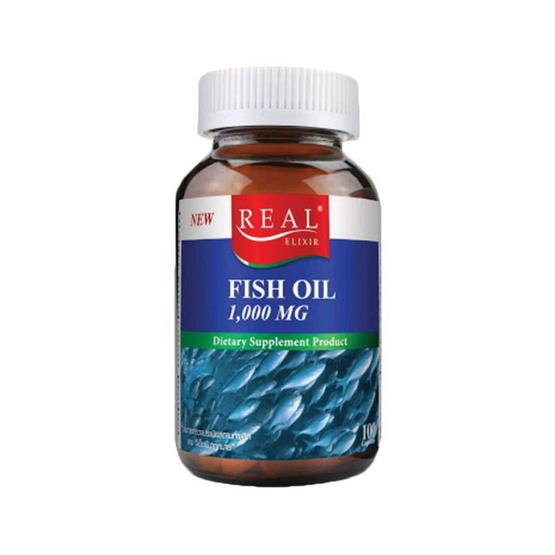 Real Elixir ฟิช ออยล์ 1,000 มก.ผลิตภัณฑ์เสริมอาหาร