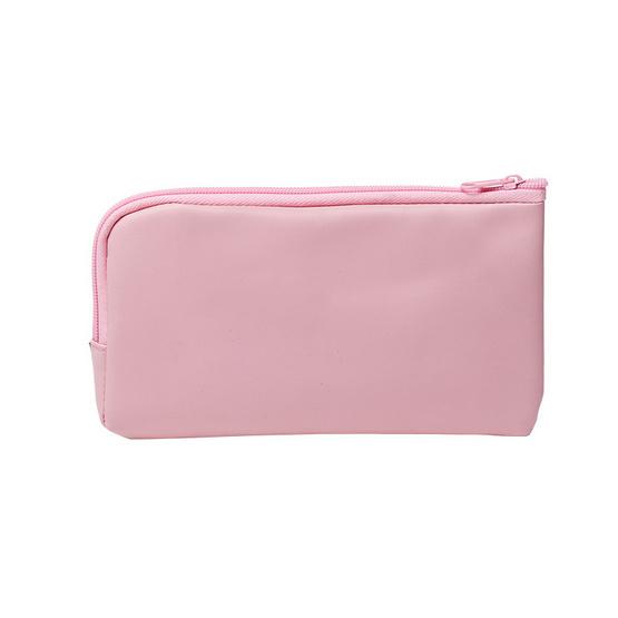 กระเป๋าดินสอ ลายฝีพระหัตถ์ สีชมพู