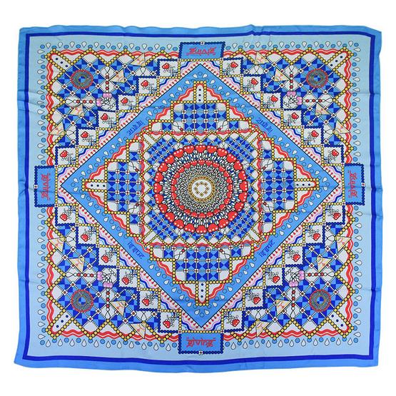 ผ้าพันคอ silk satin ลายมาลัย ออกแบบโดย ISSUE
