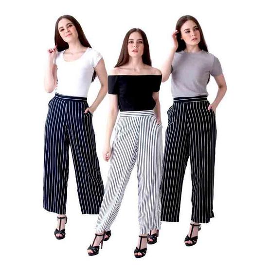 Lersy กางเกงขายาวผ้าโฟร์เวย์