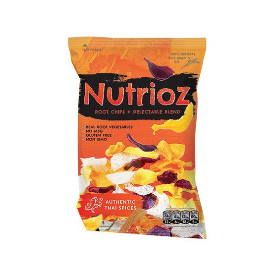 Nutrioz มันผสมเผือกทอดอบกรอบ รสเผ็ด 50 กรัม