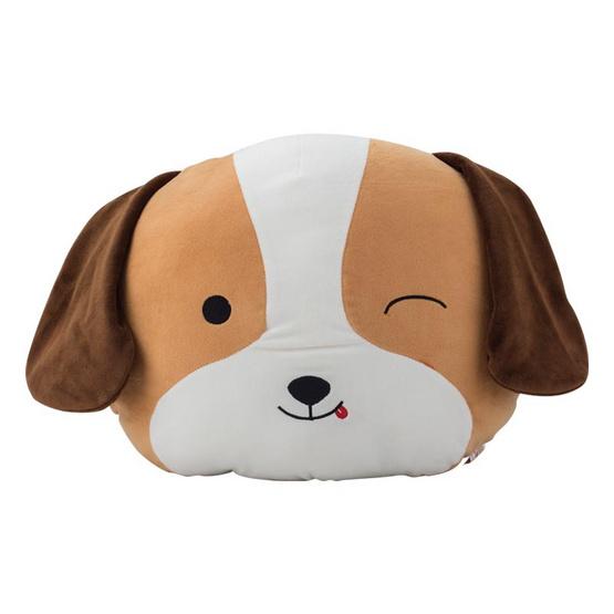 หมอนตุ๊กตาซุกมือ สุนัขสีน้ำตาล