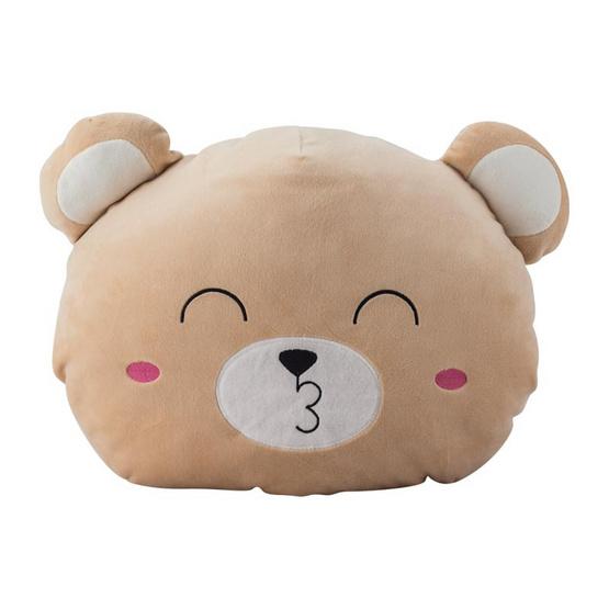 หมอนตุ๊กตาซุกมือ หมีสีน้ำตาล
