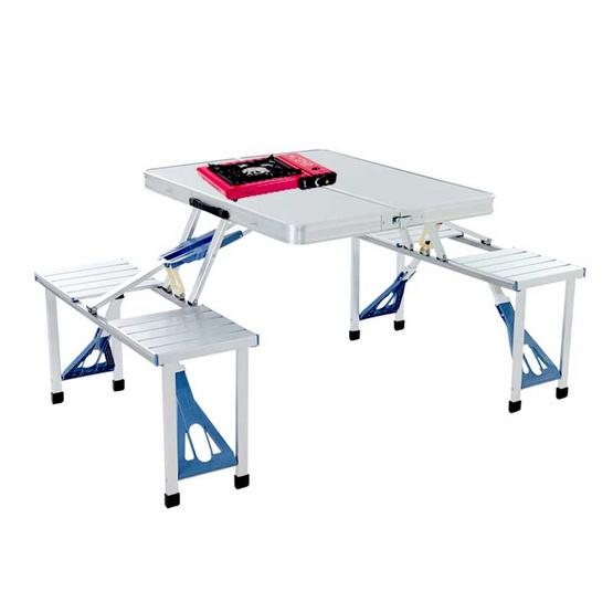 ชุดโต๊ะปิคนิคอลูมิเนียม พร้อมเก้าอี้พับเก็บได้