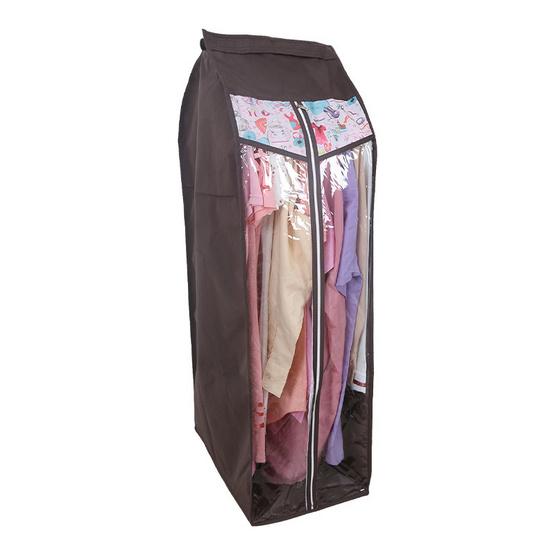 ถุงกันฝุ่นแขวนเสื้อ 10 ตัว ลายพิงค์แฟชั่น
