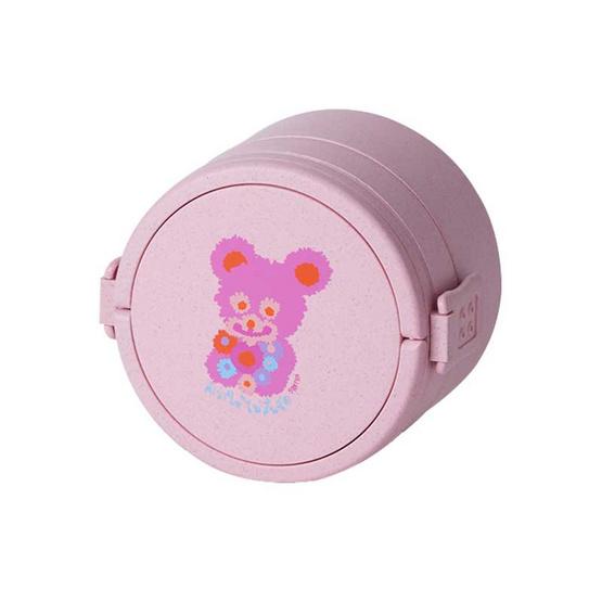 กล่องข้าวลาย TEDDY DAISY สีชมพู