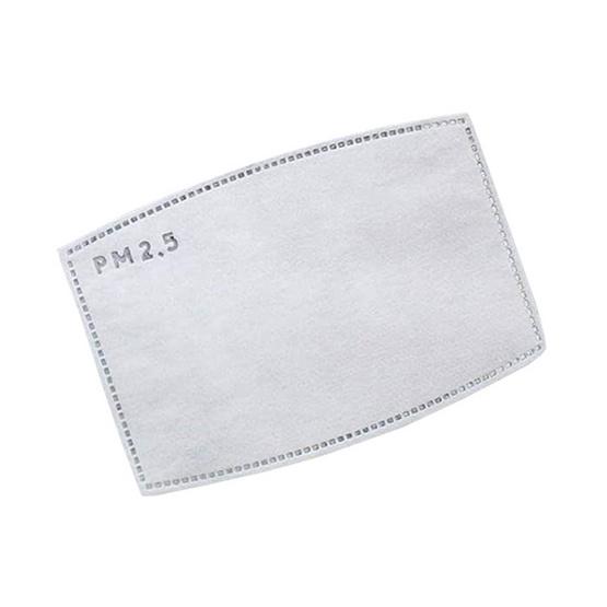 หน้ากากผ้าฝ้ายมัสลิน สีขาว พร้อมแผ่นกรอง (1 แพ็ก/4 ชิ้น)
