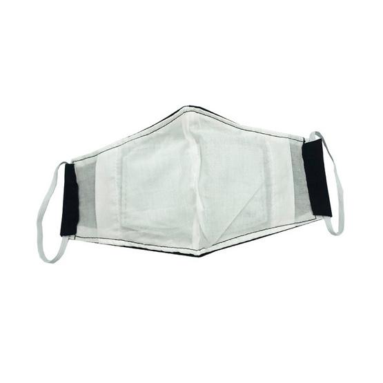 หน้ากากผ้าฝ้ายมัสลิน (เด็ก) สีดำ พร้อมแผ่นกรอง (1 แพ็ก/4 ชิ้น)