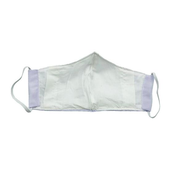 หน้ากากผ้าฝ้ายมัสลิน สีขาว 4 ชิ้น พร้อมแผ่นกรอง 8 ชิ้น