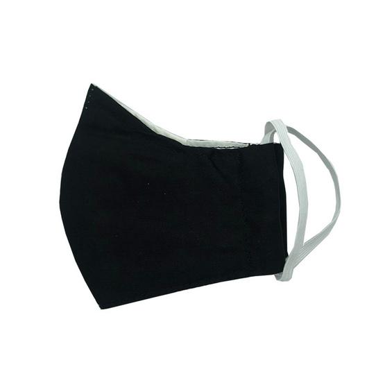 หน้ากากผ้าฝ้ายมัสลิน (เด็ก) สีดำ 4 ชิ้น พร้อมแผ่นกรอง 8 ชิ้น