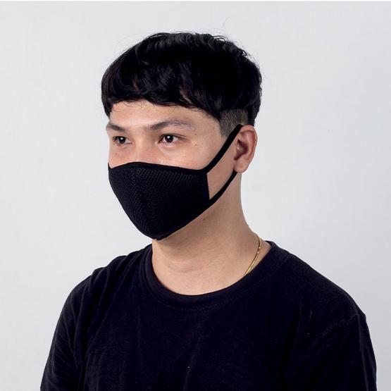 หน้ากากกรองกันฝุ่น สีดำ แพ็ก 2 ชิ้น