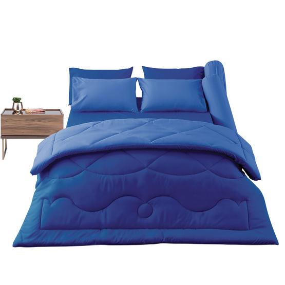 SD ชุดผ้าปู 3.5 ฟุต 3 ชิ้น MC5 สีฟ้าทูโทน