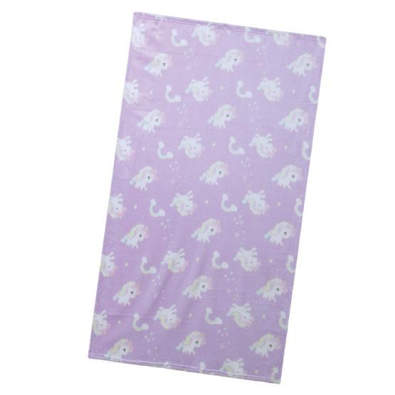 ผ้าห่มฟลีซ ยูนิคอร์น สีม่วงอ่อน 90x125 ซม.