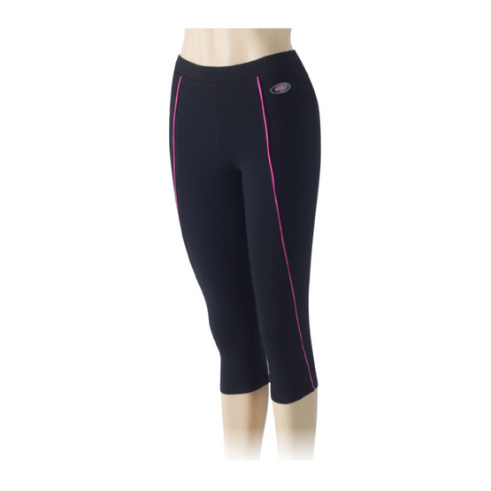 กางเกงขา 3 ส่วน สีดำกุ้นแลบชมพู