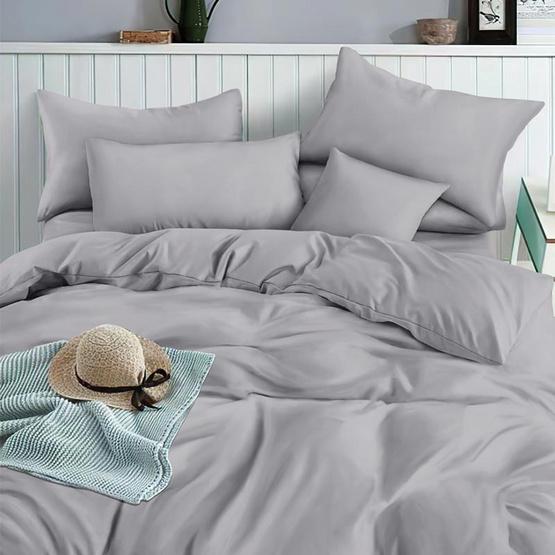 Mamori ชุดผ้าปูที่นอน 5ฟุต 5ชิ้น+นวม สีเทา