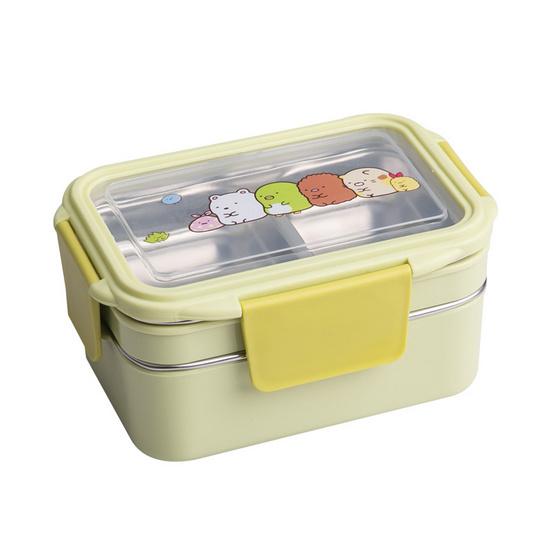 กล่องข้าวสเตนเลส 2 ชั้น สีเขียว