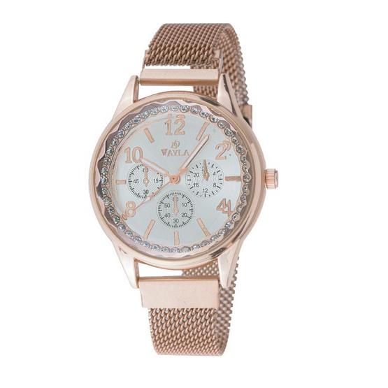 นาฬิกาสแตนเลส รุ่น VAYLA DD W1707-ROSEGOLD
