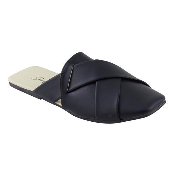 รองเท้าสวมหัวสไตล์เกาหลี รุ่น 004 สีดำ