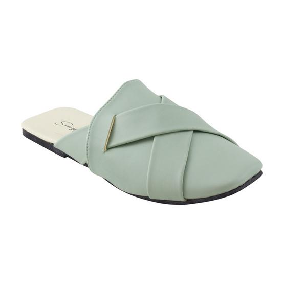รองเท้าสวมหัวสไตล์เกาหลี รุ่น 004 สีเขียว